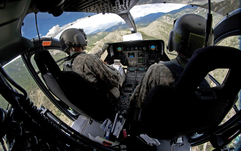 Military Helicopter Flight