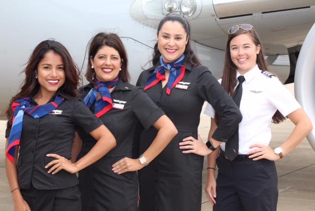 Envoy Flight Attendants and Pilot