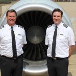 Captain Robert Neider and Captain Taylor Hinckley at WMU