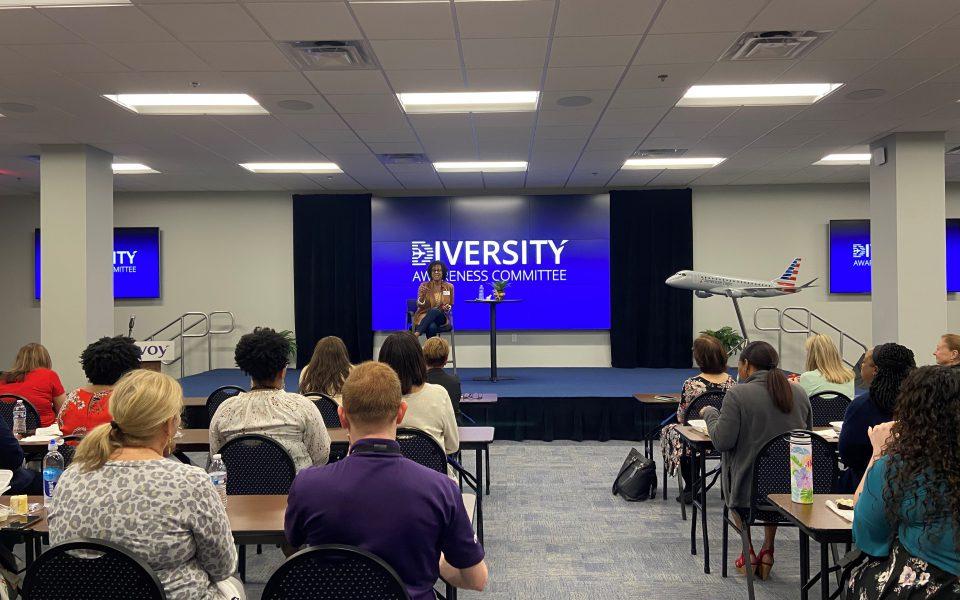 Vanessa Blacknall-Jamison speaking at Envoy HQ